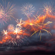 Fireworks in the evening sky — Stock Photo #25824677