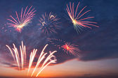 Holiday fireworks in the sky — Stock Photo