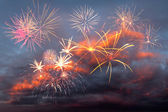 Fireworks in the evening sky — Stock Photo