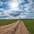 A dirt road — Stockfoto