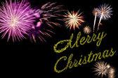 Xmas holiday fireworks — Stock Photo
