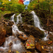 Landscape with waterfall — Stock Photo