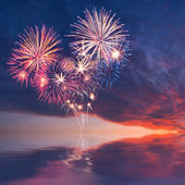 Fireworks in the form of heart — Stock Photo