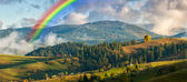 Rainbow over Mountains — Stock Photo