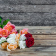 Bouquet of flowers roses — Stock Photo
