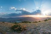 Sunset in mountain — Stock Photo