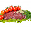 A piece of raw beef meat — Stock Photo #44670611