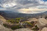 Bergslandskap på sunrise — Stockfoto