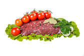 A piece of raw beef meat — Stock Photo