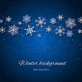 Dark blue winter vector background — Stock Vector