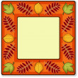 Autumn vector square frame — Stock Vector