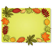 Autumn vector rectangular frame — Stock Vector