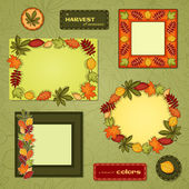 Autumn vector frame set — Stockvektor