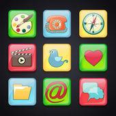 Icone per le applicazioni — Vettoriale Stock