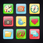 Icons for apps — Stock Vector