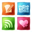 apps icon set with the effect of watercolors — Stock Vector #14736165