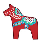 Wooden horse — Stock Vector