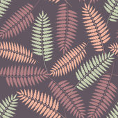 Seamless pattern with stylized fern leaves — Stock Vector