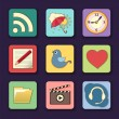Vector set of apps icons in bright colors — Stock Vector