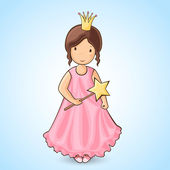 Girl Princess — Stock Vector