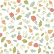 Seamless pattern with forest theme — Stock Vector