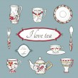 Set of vintage dishware — Stock Vector #27364935
