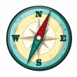 Vector cartoon compass — Stock Vector