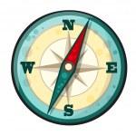 Vector cartoon compass — Stock Vector