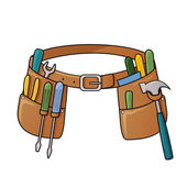 Stock illustration of tool belt — Stock Vector