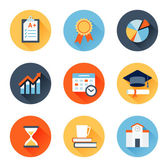 Educational flat icons — Stock Vector