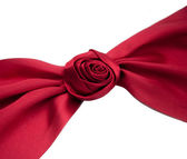 Rose shape ribbon — Stock Photo