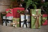 Gift under the xmas tree — Stock Photo