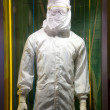 Semiconductor operator dust-proof clothing — Stock fotografie
