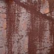 Stock Photo: Iron fence Rusty old corrugated iron