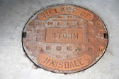 Water hole cover — Stock Photo