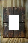 Retro wood photo frame — Stock Photo
