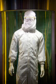 Semiconductor operator dust-proof clothing — Foto de Stock