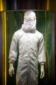 Abbigliamento di semiconduttore operatore antipolvere — Foto Stock