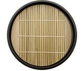 Japanese style round noodle bamboo set — Stock Photo