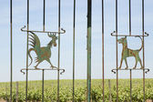 Decorated gate — Stock Photo