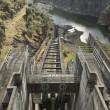 Stock Photo: Dam spillway
