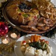 Christmas supper - Stock Photo