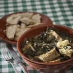Purslane soup with codfish — Stock Photo #14603543