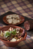 Traditional portuguese food — Stock Photo