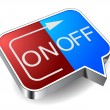 Icon on off — Stock Vector