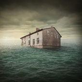 Inundación buildin — Foto de Stock