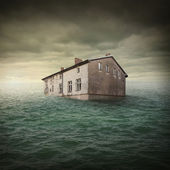 Buildin flood — Stock Photo