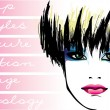 Cosmetology.makeup.hairstyles — Image vectorielle