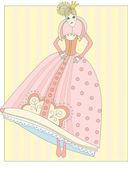 Doll - a princess — Stock Vector