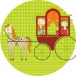 Ride in a carriage — Stock Vector